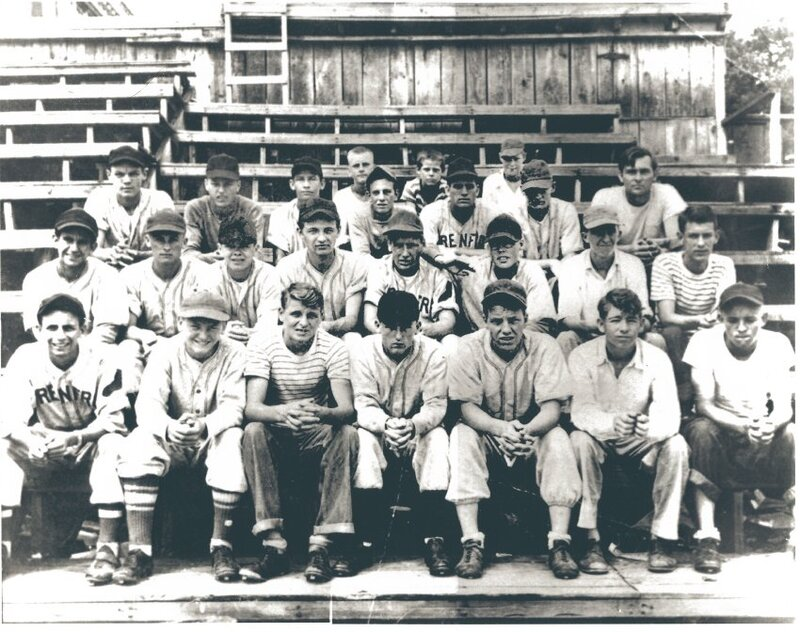 Boys Club 1949 Softball Team sponsored by Renfro Corporation